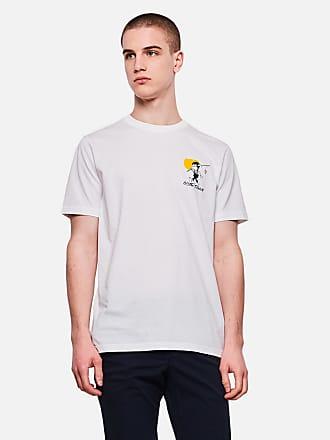 PS Paul Smith Slim fit T shirt met zebra in de wolken in wit