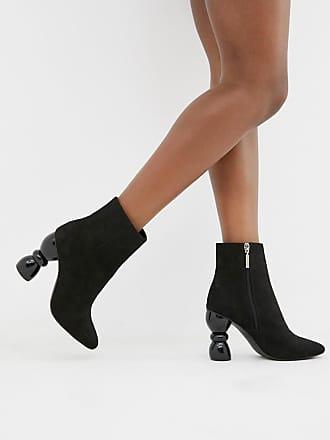 Asos Edina heeled ankle boots - Black