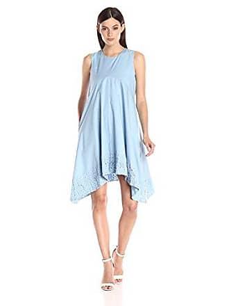 Nanette Lepore Womens Kerchief Hem Swing Dress, Blue Ivy 8