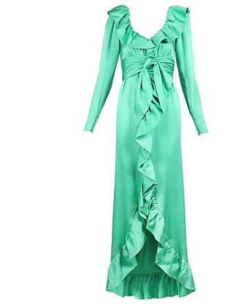 e4695528b9 Givenchy Haute Couture Sea Foam Green Silk Gown With Ruffle Neckline No  70369