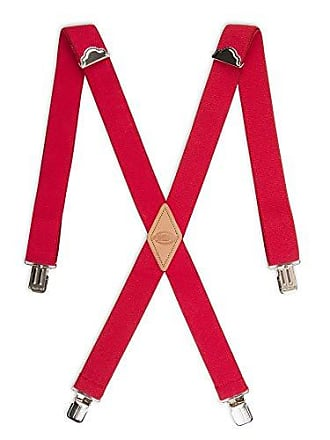 Dickies Mens 1-1/2 Solid Straight Clip Suspender,Red