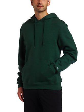 Soffe Mens Training Fleece Hooded Sweatshirt Dark Green Large