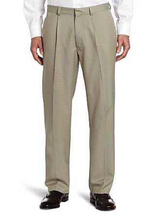 Haggar Mens Micro Tic Straight Fit Single Pleat Pant,Beige,38/32
