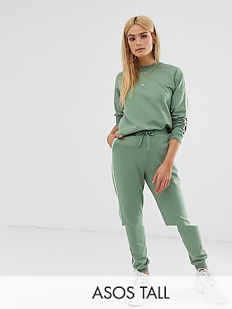 04d79055d66 Asos Tall ASOS DESIGN Tall tracksuit cute sweat / basic jogger with tie  with contrast binding