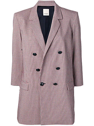 Pinko double breasted check blazer - White