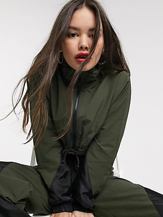 Collusion cropped nylon track jacket-Green