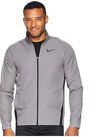 eab3ff04f861 Nike Dry Jacket Team Woven (Gunsmoke Black Black) Mens Coat