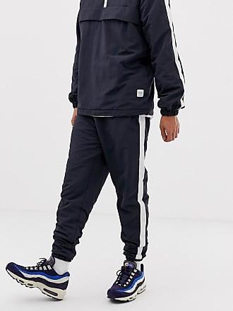 3afc9a35f05ed5 Only   Sons Pantalon de jogging en nylon avec bandes sur les côtés - Navy