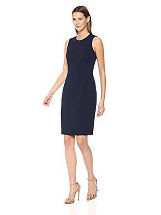 56ab4e527b559 Calvin Klein Womens Scuba Crepe Sleeveless Princess Seam Sheath Dress
