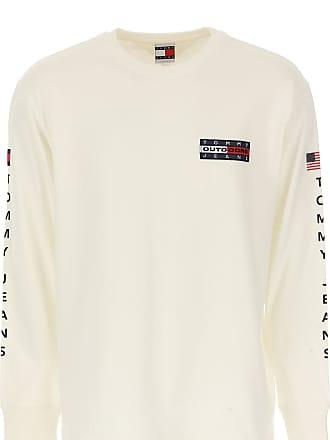 96538ac48d82 Tommy Hilfiger T-Shirt Uomo On Sale, Bianco, Cotone, 2017, L M S