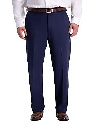 Haggar Mens Big and Tall B&T Work to Weekend PRO Relaxed Fit Flat Front Pant, Navy, 48Wx30L