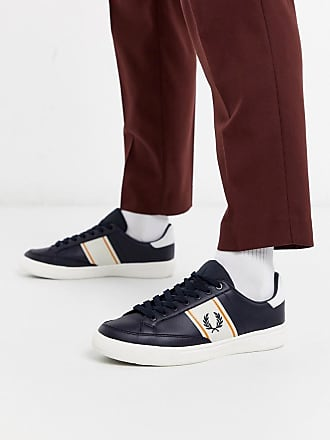 Fred Perry B3 leather trainers in navy