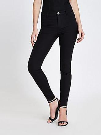 943bd0f2fa098 River Island Womens Black Molly skinny fit trousers