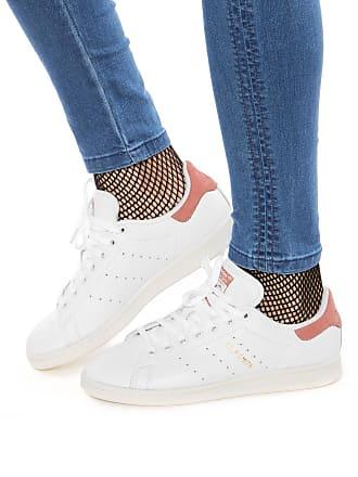 adidas Originals Tênis Couro adidas Originals Stan Smith Branco/Rosa