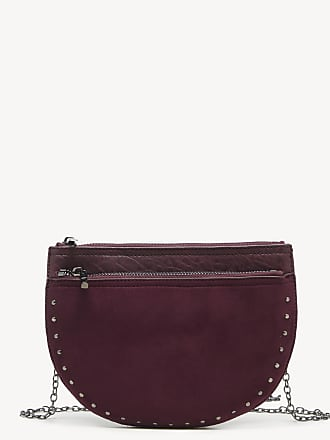 Sole Society Womens Jeana Crossbody Bag Convertible Oxblood Vegan Leather Faux Suede From Sole Society