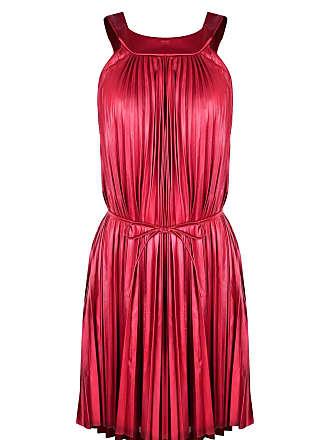 9f71941e5 Outlet Dri Vestido Outlet Dri Plissado Forrado Alcinha Gola Fechada Tiras  Cintura Vermelho