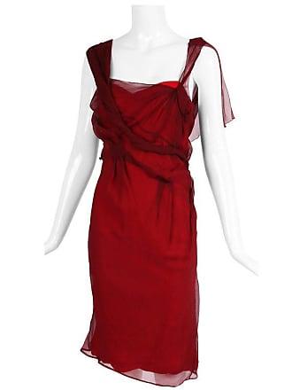 dc5d29b4f3e Dior By John Galliano Burgundy Chiffon Asymmetrical Cocktail Dress