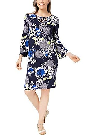 Alfred Dunner Womens Texture Flower Dress, Multi, 18