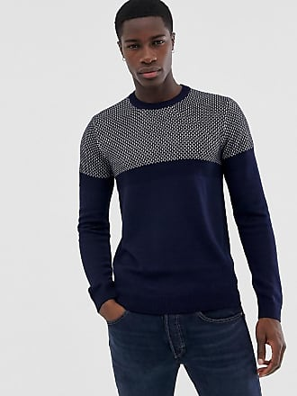 Ted Baker contrast knitted sweater - Navy
