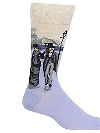 Hot Sox Mens Conversation Starter Novelty Casual Crew Socks, Paris Street (Purple), Shoe Size: 6-12 Size: 10-13