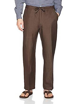 68c590da48 Cubavera Drawstring Pant with Back Elastic Waistband, Chocolate Brown,  Small x 30L