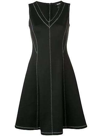 DKNY stitch detail dress - Preto