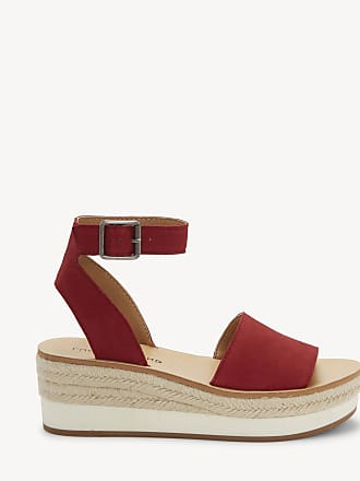 Lucky Brand Womens Joodith Platform Wedges Garnet Size 5 Leather From Sole Society