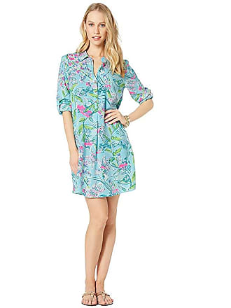 639f52cea4d528 Lilly Pulitzer Lillith Tunic Dress (Bali Blue Sway This Way) Womens Dress