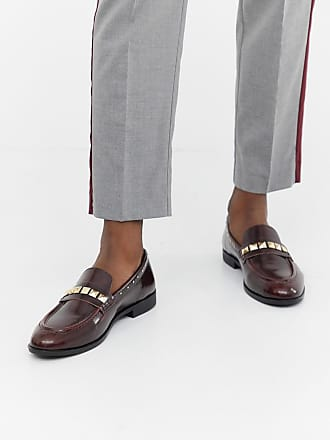 74d4a7f9481 House Of Hounds House Of Hounds Rex stud loafers in burgundy - Red