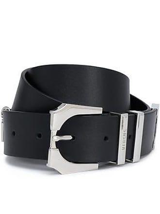 Versus Versus Versace Woman Embellished Leather Belt Black Size 90
