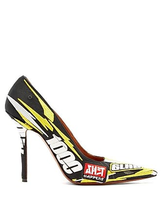 896a4b28c41 VETEMENTS Racer Embroidered Point Toe Pumps - Womens - Yellow Multi