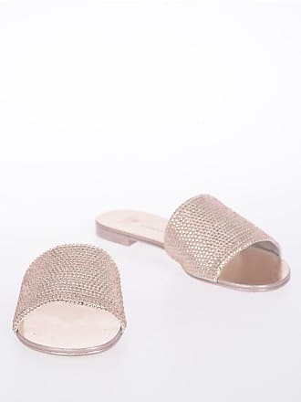 Giuseppe Zanotti Leather ROLL Slippers with Rhinestones Applied size 36