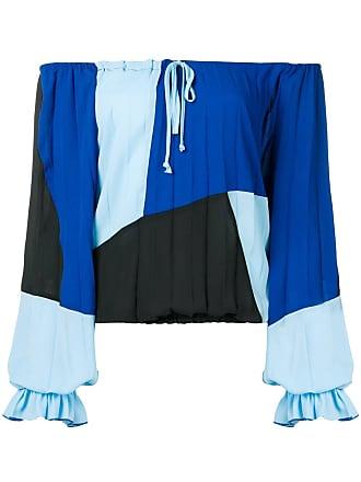 Just Cavalli Blusa ombro a ombro - Azul