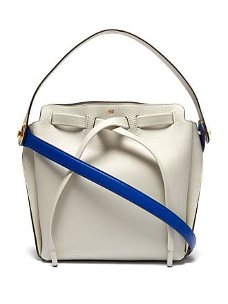7663de02a6de Anya Hindmarch Shoelace Leather Shoulder Bag - Womens - Grey Multi