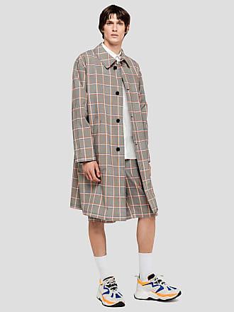 Msgm long tartan coat