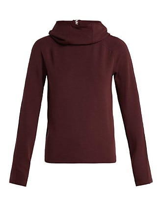 Paco Rabanne Funnel Neck Hooded Jersey Sweater - Womens - Burgundy