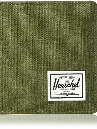Herschel Herschel Mens Roy + Coin XL RFID Bi-Fold Wallet, olive night crosshatch/olive night, One size