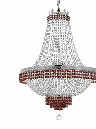 Gallery T22-2273 14 Light 30 Wide Crystal Empire Chandelier with Red