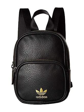 b791d6a2d6 adidas Originals Originals Mini PU Leather Backpack (Black Gold) Backpack  Bags