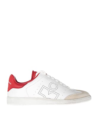 Isabel Marant Bryce sneakers in white and red