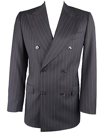 697b38caa519 Dolce   Gabbana Mens Black Stripe Wool Double Breasted Sport Coat