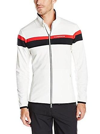 J.Lindeberg Mens M Huxley Stripe Golf Jacket, White, Medium
