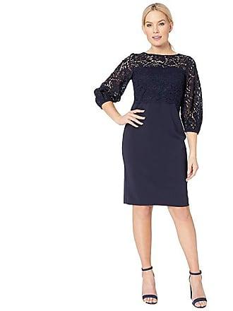 Ralph Lauren Claire Luxe Tech Crepe Dress (Lighthouse Navy Wheat) Womens  Dress c6ecf8709