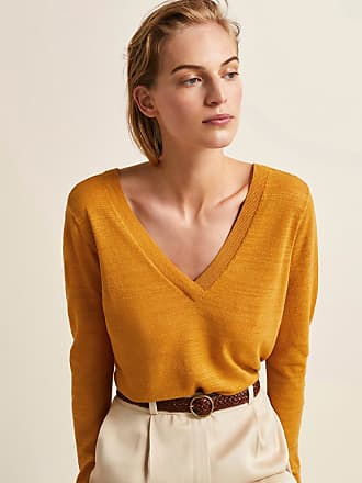 MASSIMO DUTTI TEXTURED DOUBLE V-NECK SWEATER