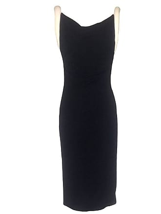 d73443467138 Versace Gianni Versace Couture Black Jersey Midi Dress With Padded White  Straps