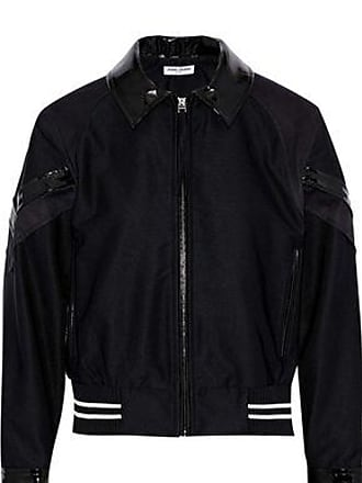 Opening Ceremony Opening Ceremony Woman Patchwork Vinyl-trimmed Mesh And Crepe Bomber Jacket Black Size XS