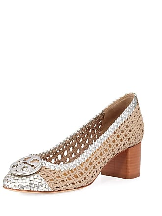 1863913d24a Tory Burch Chelsea Woven Metallic Leather Pumps