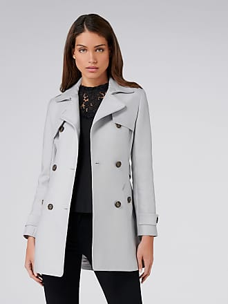 Forever New Aaliyah Trench Coat - Grey - 16