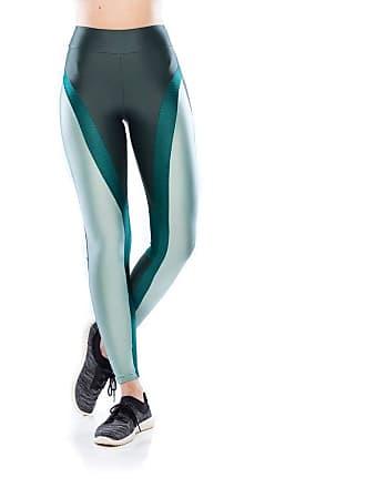 Mulher Elástica Legging Fitness Tech Fit Textura - Verde Musgo - G