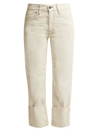 Mih Jeans Phoebe High Rise Corduroy Trousers - Womens - Ivory